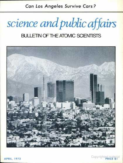 Bulletin of the Atomic Scientists - April 1973