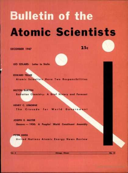 Bulletin of the Atomic Scientists - December 1947