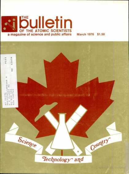 Bulletin of the Atomic Scientists - March 1976