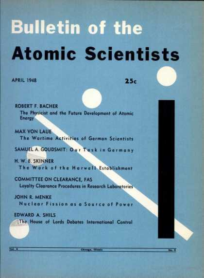 Bulletin of the Atomic Scientists - April 1948