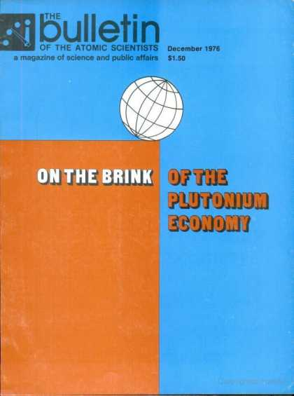 Bulletin of the Atomic Scientists - December 1976