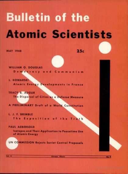 Bulletin of the Atomic Scientists - May 1948
