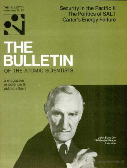 Bulletin of the Atomic Scientists - November 1978