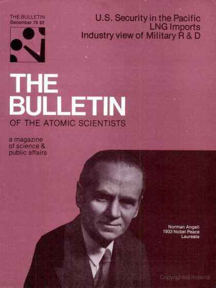 Bulletin of the Atomic Scientists - December 1978