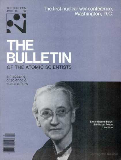 Bulletin of the Atomic Scientists - April 1979