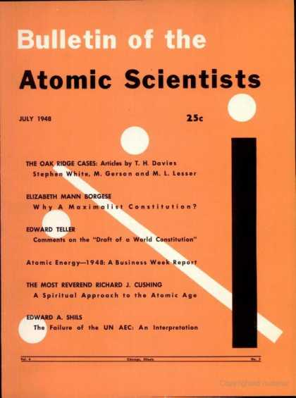Bulletin of the Atomic Scientists - July 1948