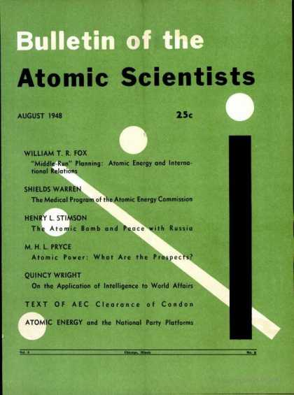 Bulletin of the Atomic Scientists - August 1948