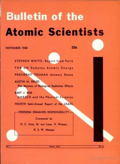 Bulletin of the Atomic Scientists - November 1948