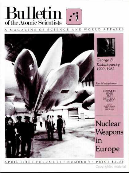 Bulletin of the Atomic Scientists - April 1983