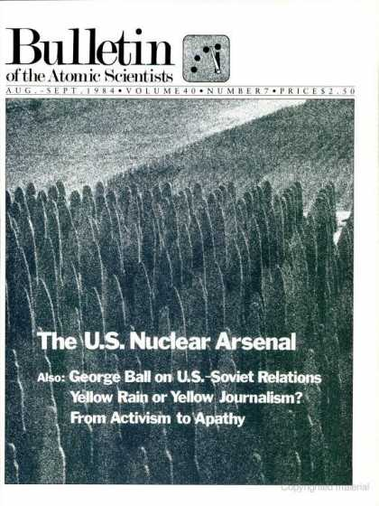 Bulletin of the Atomic Scientists - August 1984