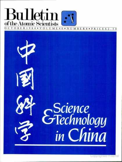 Bulletin of the Atomic Scientists - October 1984