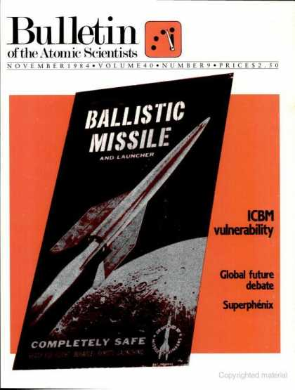 Bulletin of the Atomic Scientists - November 1984