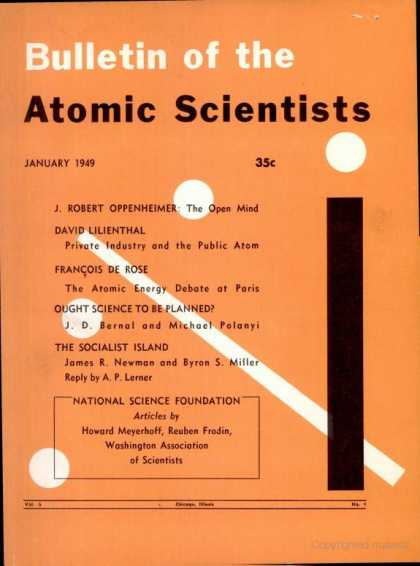 Bulletin of the Atomic Scientists - January 1949