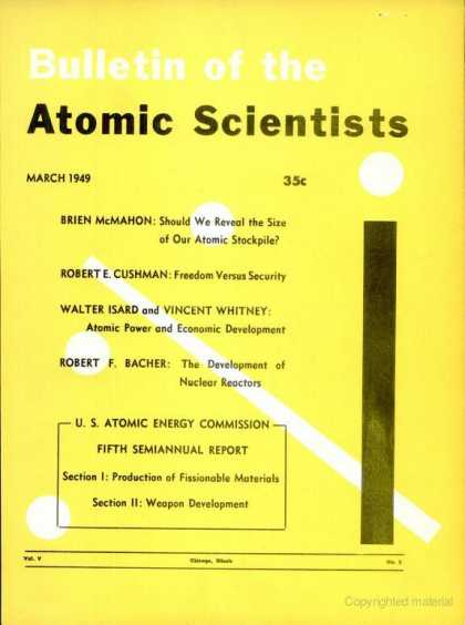 Bulletin of the Atomic Scientists - March 1949