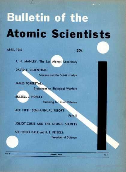 Bulletin of the Atomic Scientists - April 1949