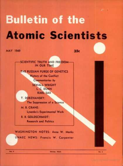 Bulletin of the Atomic Scientists - May 1949