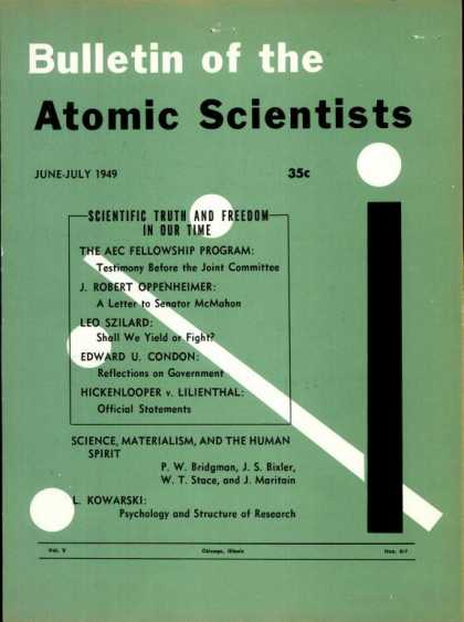 Bulletin of the Atomic Scientists - June 1949