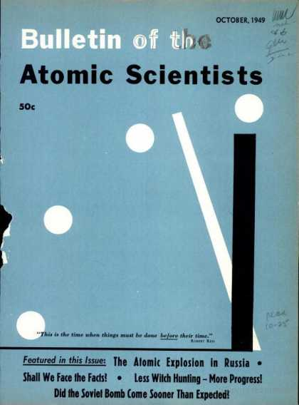 Bulletin of the Atomic Scientists - October 1949