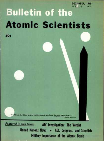 Bulletin of the Atomic Scientists - December 1949