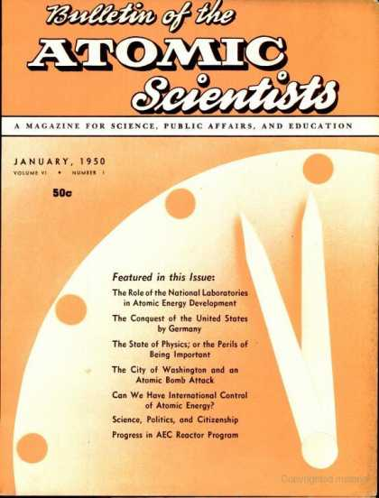Bulletin of the Atomic Scientists - January 1950