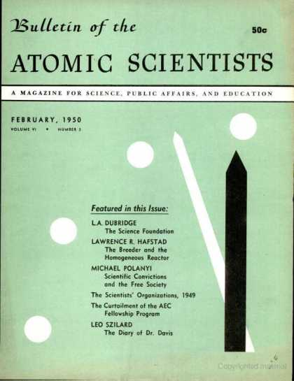 Bulletin of the Atomic Scientists - February 1950