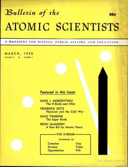 Bulletin of the Atomic Scientists - March 1950