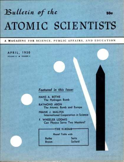 Bulletin of the Atomic Scientists - April 1950