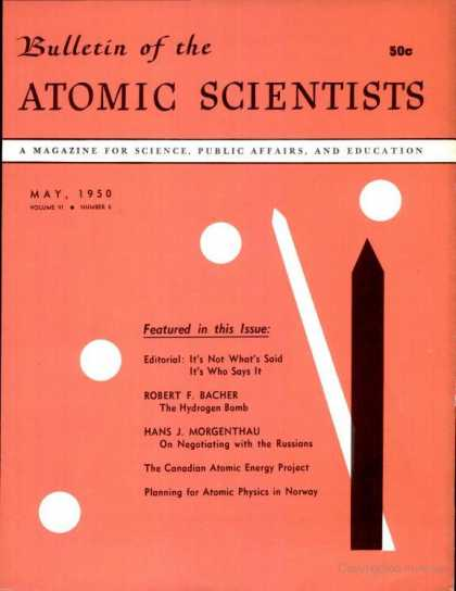 Bulletin of the Atomic Scientists - May 1950