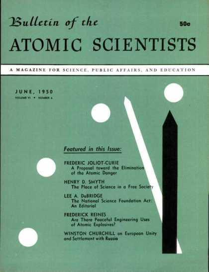 Bulletin of the Atomic Scientists - June 1950