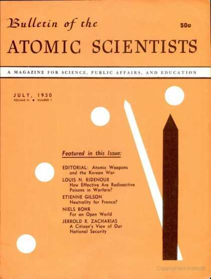 Bulletin of the Atomic Scientists - July 1950