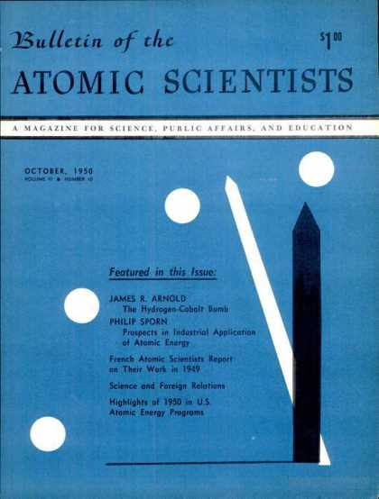 Bulletin of the Atomic Scientists - October 1950