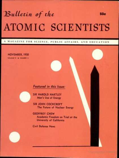 Bulletin of the Atomic Scientists - November 1950