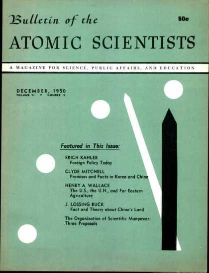 Bulletin of the Atomic Scientists - December 1950