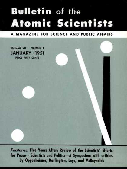 Bulletin of the Atomic Scientists - January 1951