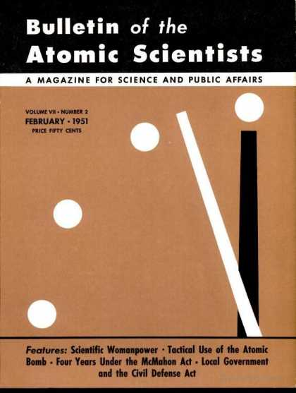 Bulletin of the Atomic Scientists - February 1951