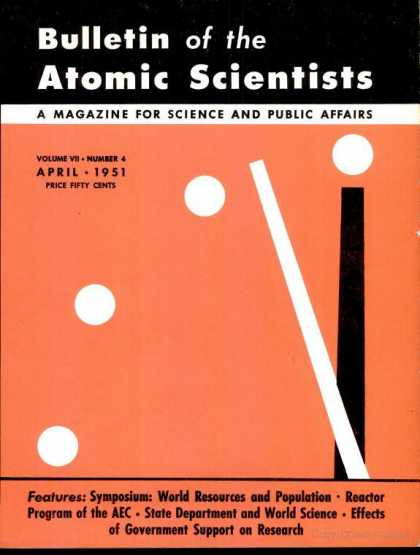 Bulletin of the Atomic Scientists - April 1951