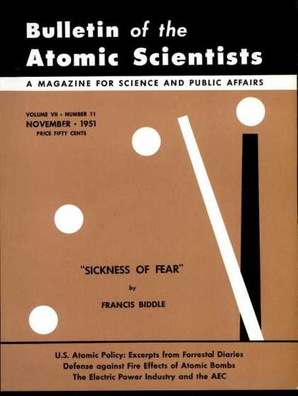 Bulletin of the Atomic Scientists - November 1951