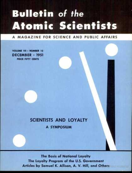 Bulletin of the Atomic Scientists - December 1951