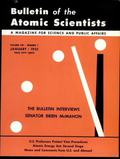 Bulletin of the Atomic Scientists - January 1952