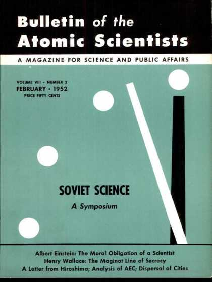 Bulletin of the Atomic Scientists - February 1952