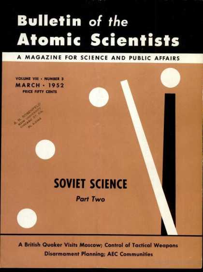 Bulletin of the Atomic Scientists - March 1952