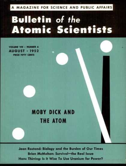 Bulletin of the Atomic Scientists - August 1952