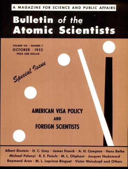 Bulletin of the Atomic Scientists - October 1952