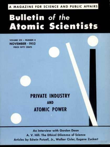 Bulletin of the Atomic Scientists - November 1952