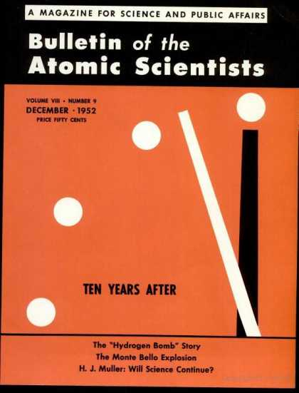 Bulletin of the Atomic Scientists - December 1952