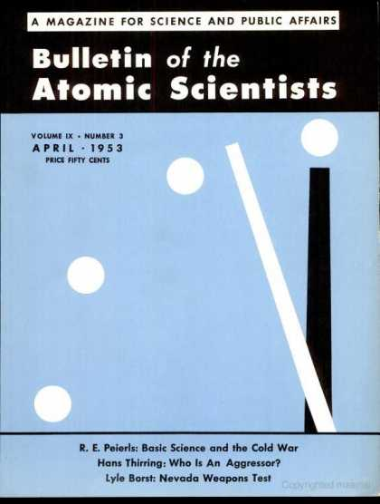 Bulletin of the Atomic Scientists - April 1953