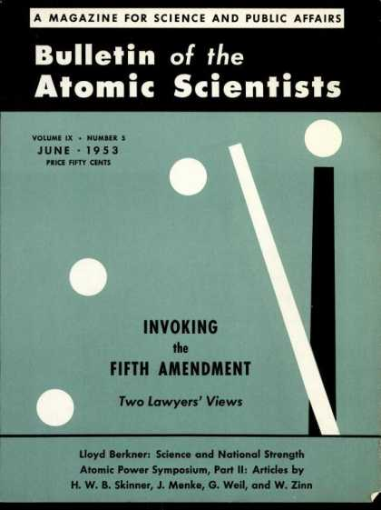 Bulletin of the Atomic Scientists - June 1953