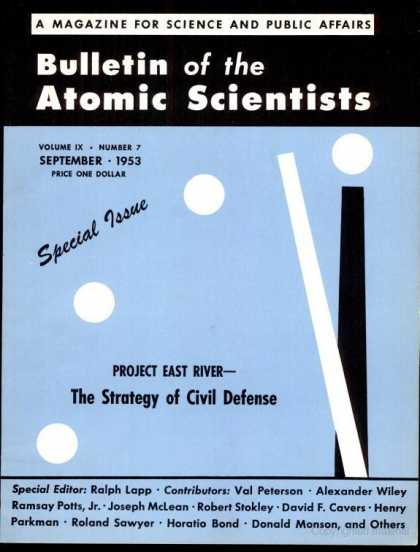 Bulletin of the Atomic Scientists - September 1953