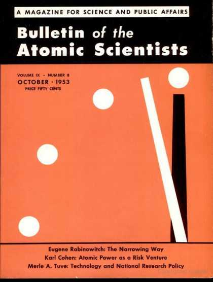 Bulletin of the Atomic Scientists - October 1953