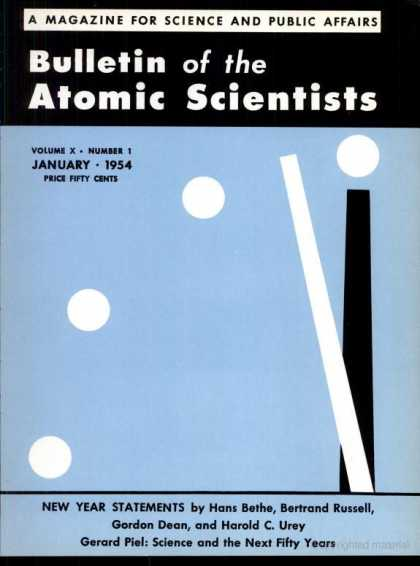 Bulletin of the Atomic Scientists - January 1954